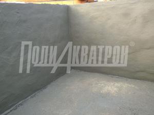 Устройство сплошной гидроизоляции производится путем нанесения покрытия из «ПОЛИАКВАТРОН» за два прохода