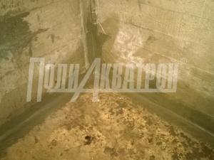 Гидроизоляция углов швев примыканий материалом ПОЛИАКВАТРОН